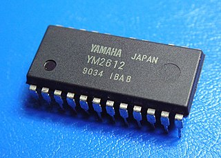 Yamaha YM2612 FM synthesis sound chip by Yamaha
