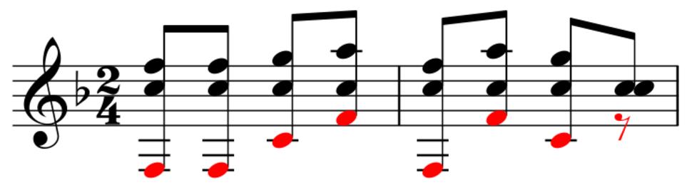 Yankee Doodle combination tones