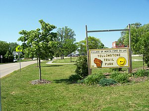 Wisconsin Highway 175 - Commemorative sign along former WIS 175 at Yellowstone Trail Park in North Fond du Lac