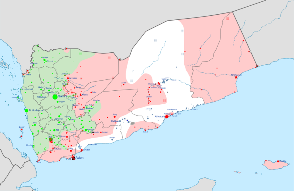 Yemen war detailed map.png