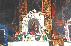Yepachic - Interior of Spanish mission church in Yepachi, Chihuahua, Mexico