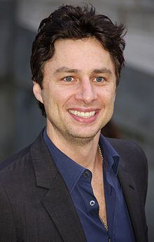 The 42-year old son of father Harold Irwin Braff and mother Anne Brodzinsky, 183 cm tall Zach Braff in 2017 photo