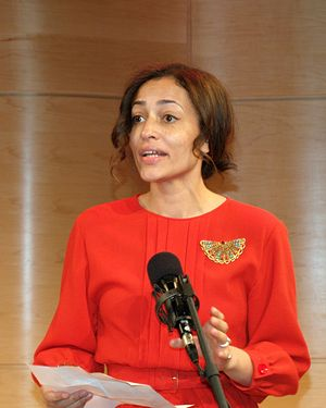 Zadie Smith - Smith announcing the 2010 National Book Critics Circle award finalists in fiction.