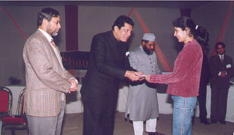 Lakhimpur Kheri district - Zafar Ali Naqvi as Chief Guest for the prize distribution ceremony of IT festival – Nerdz 2003, New Delhi