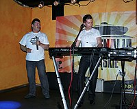 Zenon Martyniuk and Ryszard Warot - Akcent (Polish music band) 02.JPG
