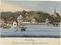 Zentralbibliothek Zürich - Herliberg le village au bord du Lac de Zuric du Côté de lorient - 000007613.tif