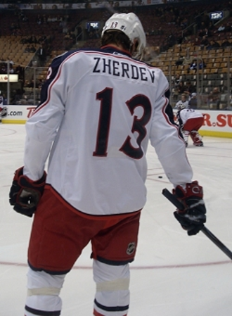 Nikolay Zherdev - Zherdev with the Columbus Blue Jackets in 2008