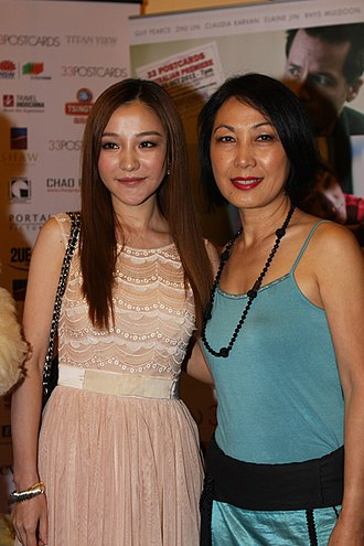 Pauline Chan (Australian actress) - Zhu Lin and Pauline Chan (R) at the 33 Postcards premiere (2011)