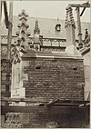 zicht op detail hervormde kerk met pinakels tijdens restauratie - arnhem - 20319992 - rce