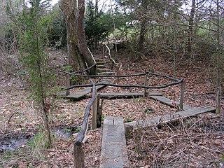 Boxerwood Gardens arboretum in Lexington, Virginia, USA