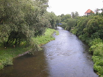 Nordhausen - The Zorge river in Nordhausen