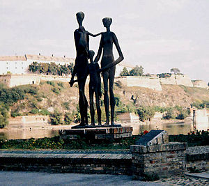 History of the Jews in Serbia - Monument in Novi Sad dedicated to killed Jewish and Serb civilians in 1942 raid