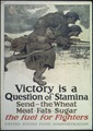 """Victory is a Question of Stamina. Send -the Wheat- Meat- Fats- Sugar the fuel for Fighters."" - NARA - 512581.tif"