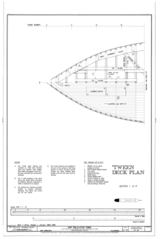 'Tween Deck Plan, Section 1 of 5 - Ship BALCLUTHA, 2905 Hyde Street Pier, San Francisco, San Francisco County, CA HAER CAL,38-SANFRA,200- (sheet 23 of 69).png