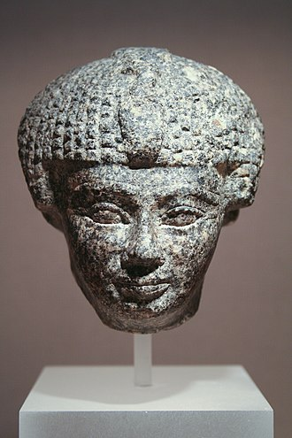 Middle Kingdom of Egypt - The head of a statue of Senusret I.
