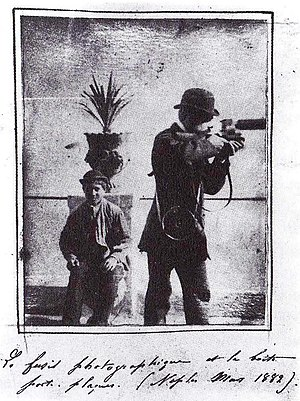 """Étienne-Jules Marey - Ètienne-Jules Marey in Napoli. In the hand notes the date is readable: """"March 1882"""""""