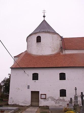 Častohostice - Image: Častohostice kostelsv Barbory 1
