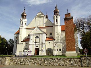 Łask Place in Łódź Voivodeship, Poland