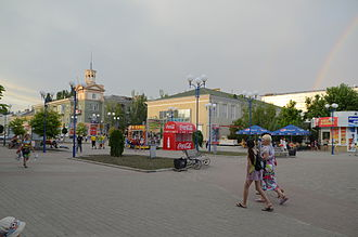 Berdyansk - Main pedestrian street of Berdiansk