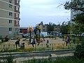 Лыткарино, детская площадка на месте дома купца Горюнова 01.jpg