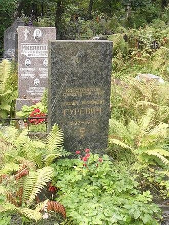 Mikhail Gurevich (aircraft designer) - Grave of Mikhail Gurevich in Saint Petersburg.