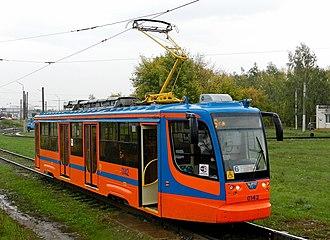Naberezhnye Chelny - Image: Трамвайный вагон модели 71 623 02 в Набережных Челнах