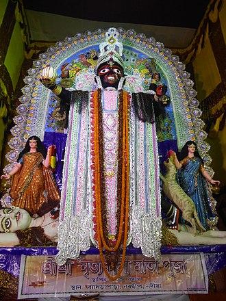 Chalchitra - Nrityo Kali Mata with Chalchitra in Shakta Rash