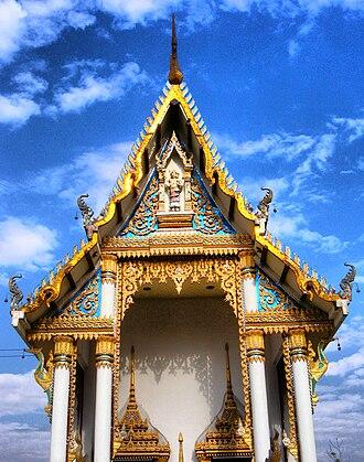 Wat Khung Taphao - Ubosoth of Wat Khung Taphao, 2008.