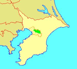 Wakaba-ku - Image: 地図 千葉県千葉市若葉区 2006