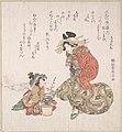 花魁と梅盆栽-Courtesan and her Child Attendant with a Potted Plum Tree MET DP138998.jpg
