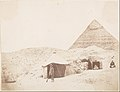 -The Photographer before his Tent on the Site of the Pyramid of Khafre (Chephren)- MET DP247484.jpg