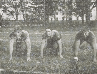 1901 Columbia Lions football team - Morley, Weekes, and Berrien.