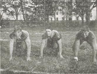 1901 Columbia Lions football team - Morley, Weekes, and Berrien.