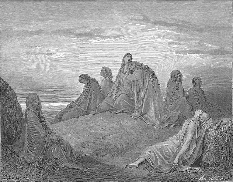 입다의 딸을 슬퍼하는 시스라엘의 딸들