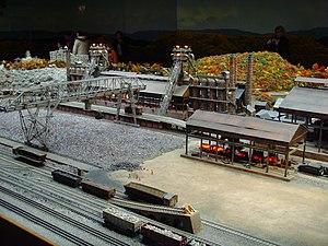 Sharon Steel Corporation - Replica of original Sharon Steel Mill in Farrell, PA (model at Carnegie Science Center).