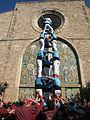 08 Els Castellers de Terrassa davant l'església de Santa Eulàlia (Esparreguera).JPG