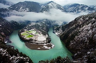 Gongshan Derung and Nu Autonomous County - Image: 1.the first bend of Nu river