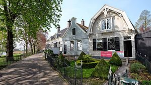 Street - Street in Broek in Waterland, Netherlands.