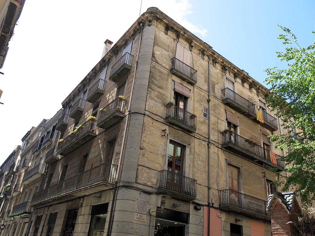 Habitatge al carrer d 39 anselm clav 21 viquip dia l for Oficina habitatge girona