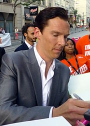 years a slave film  benedict cumberbatch signing autographs at the premiere of the film at tiff 2013