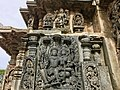 12th-century Vishnu and Lakshmi at Shaivism Hindu temple Hoysaleswara arts Halebidu Karnataka India.jpg