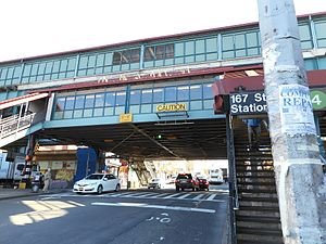 Jerome Avenue at the 167th Street subway station