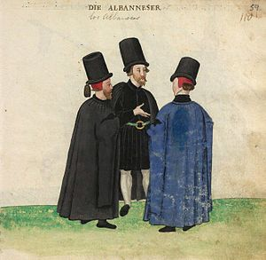 Albanians - Albanian men in the 16th century – Codice de trajes 1547