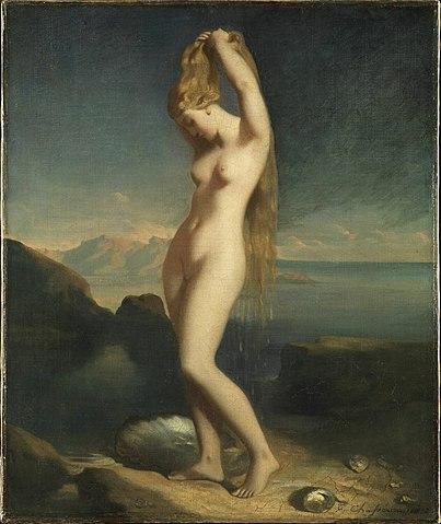 1838 Théodore Chasseriau - Venus Anadyomene