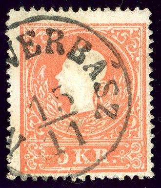 Vrbas, Serbia - NEU-VERBASZ in the Empire of Austria in 1859
