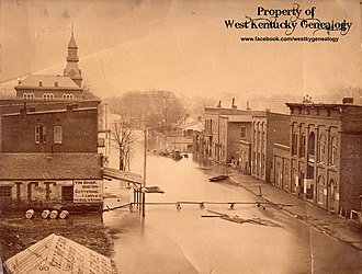 Paducah, Kentucky - 1884 flood