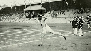 Athletics at the 1912 Summer Olympics – Men's javelin throw - Silver medalist Julius Saaristo.