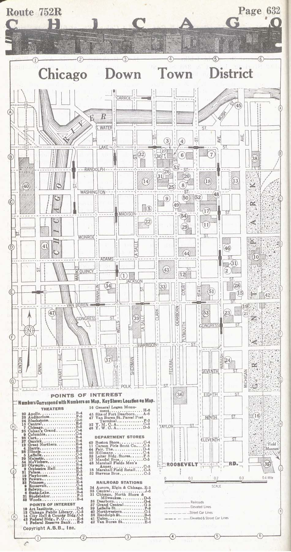1917 Chicago Down Town District
