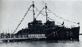 Republic of Korea Navy - ex-USN destroyer escorts transferred to the ROK Navy at Boston in 1956