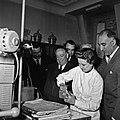 1957 Visite du ministre de l'agriculture Mr ANDRE DULIN au CNRZ-29-cliche Jean Joseph Weber.jpg